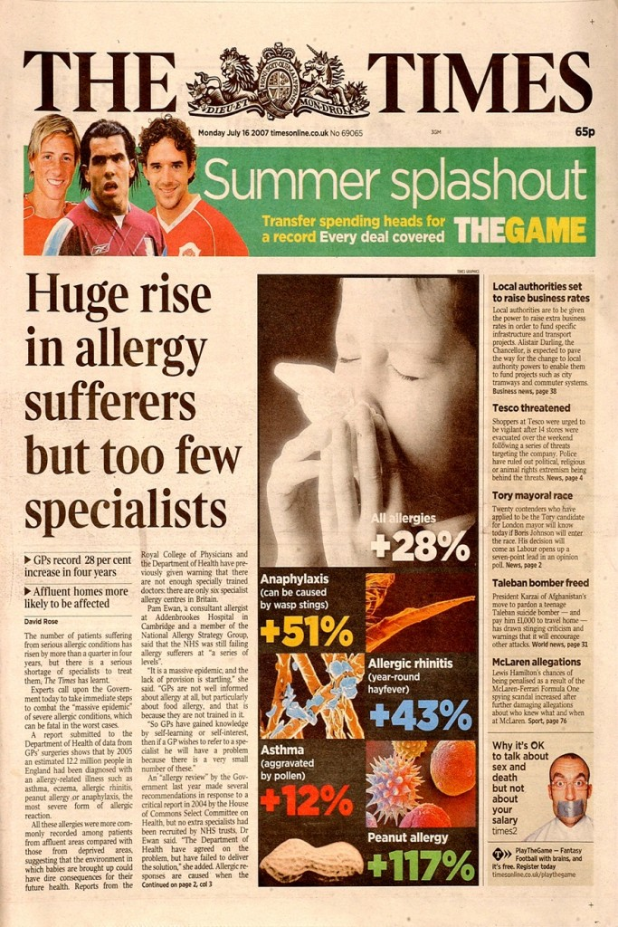 london allergy doctors - sufferers